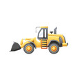 bulldozer construction vehicle vector image vector image