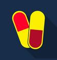 capsules info graphic painkillers antibiotics vector image