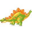 cartoon big dinosaur stegosaurus vector image vector image