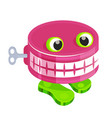 chattery teeth batoy with clockwork mechanism vector image vector image
