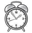 Classic alarm clock vector image vector image
