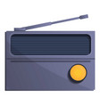 classic radio icon cartoon style vector image vector image