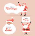 collection happy santa clauses dancing vector image vector image
