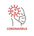 coronavirus sumbol in human head vector image vector image
