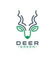 deer head horn logo vector image vector image