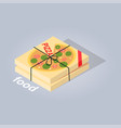delivered pizza from online food store web banner vector image