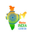 election of india 2019 banner design vector image vector image