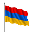 Flag of Armenia vector image vector image