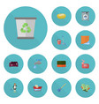 flat icons washcloth sofa faucet and other vector image vector image