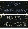 garland Christmas and new year vector image
