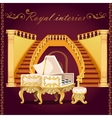 Gold piano and Grand staircase with columns