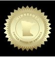 Gold star label Minnesota vector image vector image