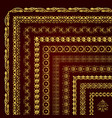 golden unique decorative corner borders and frames vector image vector image