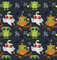 halloween mystery owls seamless pattern vector image