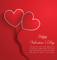 Happy Valentine Day Background with red hearts vector image vector image