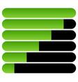 horizontal bars loading bars progress indicators vector image vector image