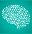 human brain isolated on a green background vector image