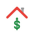 icon concept of dollar symbol arrow moving up vector image