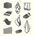 kitchen and room service towels napkins textile vector image vector image