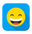 Laugh Yellow Smiley Face Flat App Icon vector image