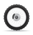 motorcycle wheel 04 vector image vector image