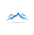 Mountains peaks image vector image