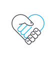 mutual agreement thin line stroke icon vector image vector image