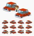 Old red sedan vector image vector image