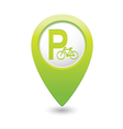 parking bicycle symbol map pointer green vector image