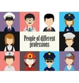 People avatar male and female human faces social vector image vector image