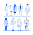 professional medical staff character group set vector image