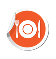 restaurant sign orange sticker vector image vector image