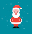 santa claus stands on a blue background vector image vector image