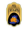 scary halloween logo cartoon style vector image