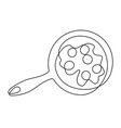 scrambled eggs one line drawing vector image vector image