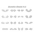 set decorative elements with flourishes curls vector image vector image