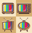 set of classic television vector image