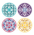 set round arabic ornaments vector image