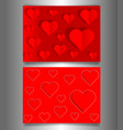 set valentines day or mothers day red banners vector image vector image