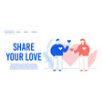 share love relationship development landing page vector image