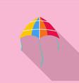 shine kite icon flat style vector image vector image