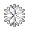 silver snowflake volumetric moderate lighting on vector image vector image
