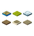stone game platforms set user interface assets vector image vector image