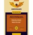 Template Certificate vector image