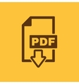The PDF icon File format symbol Flat vector image vector image