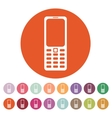 The phone icon Cellphone symbol vector image vector image