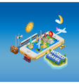 Travel And Landmarks Concept Poster vector image vector image
