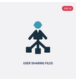 two color user sharing files icon from people vector image vector image