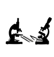 two microscopes vector image vector image
