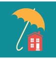Umbrella closes house vector image